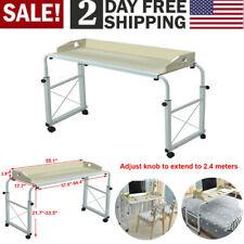 Long Overbed Table Laptop Cart Hospital Bed Computer Table Nursing Mobile Desk
