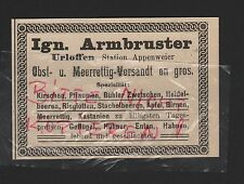 URLOFFEN Baden, Werbung 1912, Ign. Armbruster Obstversandt en gros