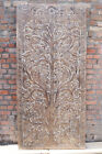 VINTAGE Hand-Carved Sculpture WALL Relief Wood Farmhouse Rustic Entry Barn Door