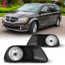 11-19 For Dodge Grand Caravan Clear Lens Pair Fog Light Lamp+Wiring+Switch DOT