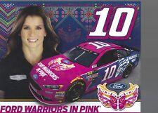 2017 Danica Patrick Ford Warriors in Pink NASCAR  Postcard/Herocard ( DOVER )