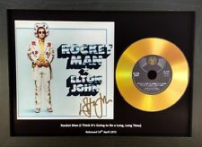 ELTON JOHN 'ROCKET MAN'- SIGNED GOLD CD DISC COLLECTABLE MEMORABILIA