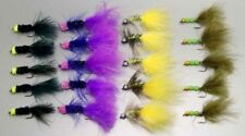 20 PCS Mixed color woolly bugger Flies 6# 8# fly fishing W/ Free Box D386