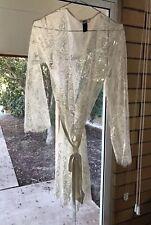 Honey Birdette Love Lace Ivory Robe $4 Express White small /M sheer Short Sexy