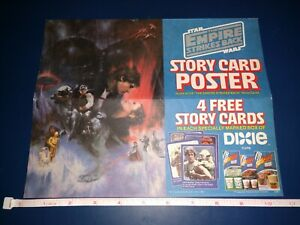 Star Wars DIXIE CUPS Story Card Poster 1981 EMPIRE STRIKES BACK - Rare