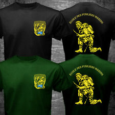 French Marine Corps School Ecole des Fusiliers Marins Lorient Military T-shirt