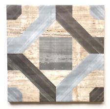 "8"" x 8"" Cordoba Geometric Pattern Made in Spain Ceramic Floor Tile(9 PIECE PACK)"