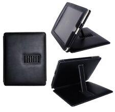 Kunstleder-Tasche passend für Apple iPad® mit Standfuß schwarz elegantes Design