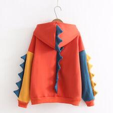 Girls Harajuku Dinosaur Hoodie Sweatshirt Monster Ulzzang Korea Animal Printed
