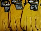 (3) Wells Lamont Work Gloves Construction Leather Cowhide Premium X-LARGE XL NEW