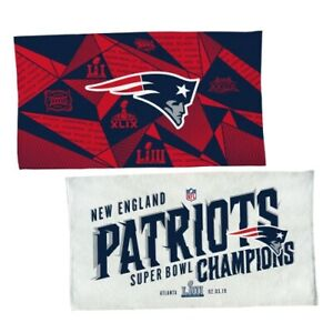 """NEW ENGLAND PATRIOTS SUPER BOWL 53 CHAMPS OFFICIAL ON FIELD TROPHY TOWEL 22""""X42"""""""