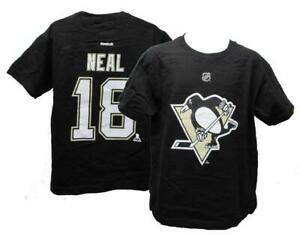 New Pittsburgh Penguins #18 James Neal Youth Sizes M-L Black Shirt