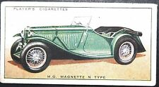 MG MAGNETTE   N Type  Open Top Sports Car     Original 1930's Card  # VGC