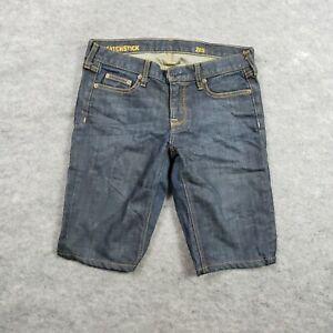 J. Crew Shorts Womens 28S Bermuda Matchstick Blue Pockets Medium Wash Ladies