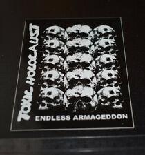 TOXIC HOLOCAUST sticker (municipal waste,sodom, bathory, midnight,venom, slayer)
