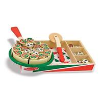 Melissa & Doug Bois Pizza Fête Jeu Nourriture 54 Pièce Bois Set de Jeux