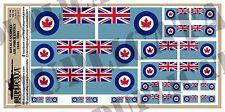 Diorama Accessory - Royal Canadian Air Force Flag ('40-'65) 1/72,1/48,1/32,1/35