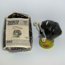 "VINTAGE ZEBCO ""202"" SPIN CASTING REEL with INSTRUCTIONS >> WORKS!"