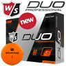 Wilson Staff Duo Professional Golf Balls Dozen Pack Orange - NEW! 2020