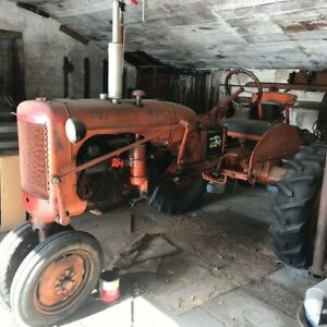 Allis Chalmers C Tractor with Center mounted mower for restoration.  Garaged.