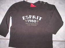 "Cooles ""Esprit"" LA-Shirt mit Motiv, braun  Gr.74"
