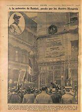 Cesare Battisti patriota giornalista Irredentist Piazza Venezia a Roma 1916 WWI