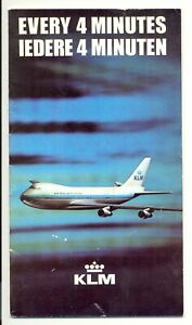 NETHERLANDS AVIATION KLM 1971 INFO - 27 PAGES WITH MAPS --VF