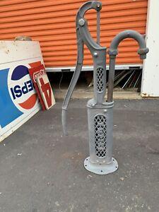 Vintage Cast Iron hand crank water pump Empire