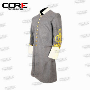 Civil War Confederate Major's Grey with Off White Single Breast Frock Coat