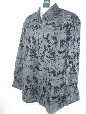 NWT ZJIEYU  Mens Retro  Black Shirt Size 42 Striped Velvet L/S Alligator emblem