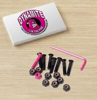 "Dynamite Forever Bolts 1"" Inch 1 In The Pink Skateboard Hardware New"