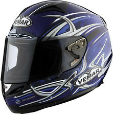 Vemar Eclipse BLUE TRIBAL FLAME, EC BSI DOT, FULL FACE HELMET SIZE MEDIUM