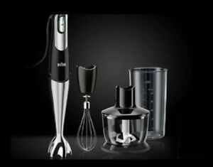 Braun MQ735 400 Watt Black Multiquick 7 Handheld Blender with Smart Speed New!