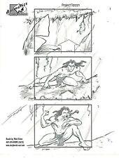 MARK SIMON Hand Drawn Disney Animal Kingdom TARZAN Storyboard Page Signed #MS