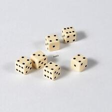 25 Stück 7mm Elfenbeinfarbe Knobel Würfel / Augen Würfel Spielwürfel von Frobis