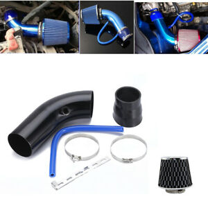 76mm/3In Aluminum Alloy Black Cold Air Intake Kit &Dry Filter Fit For Car SUV