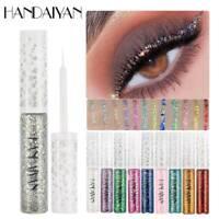 HANDAIYAN 12 Colors Glitter Eyeliner Eyeshadow Waterproof Liquid Eyeliner Makeup