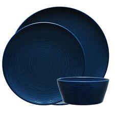 NEW Noritake NON Swirl 12-Piece Dinner Set in NAVY! LOWEST PRICE!