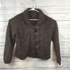 Chadwicks Cardigan Button Up Brown Lambswool Nylon Sweater