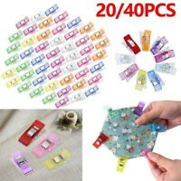 40/20pcs Wonder Clips Colorful Quilting Fabric Craft Knitting Sewing Crochet