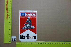 Alter Aufkleber Zigaretten Motorsport MARLBORO USA Country-State 1982 KANSAS
