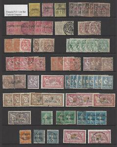 Französische Kolonie Auslandpostamt Levante aus 1-33 Posten gestempelt