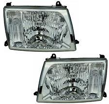 Pair Headlights Toyota Landcruiser 03/98-10/05 New GXV Lamp100 99 00 01 02 03 04