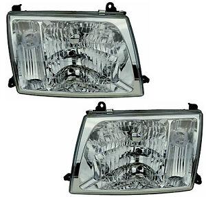 Pair Headlights For Toyota Landcruiser 03/98-10/05 New GXV Lamp100 99 00 01 02