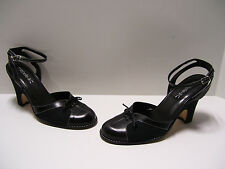 Michelle K Womens Shoes Sz 8.5 M US Black Heels Slipons Casual Dress Pumps