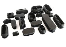 Oblong Plastic End Caps Blanking Plugs Tube Box Section Inserts / BLACK