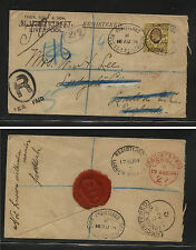 Great Britain 132 on registered cover local use 1904 At0724