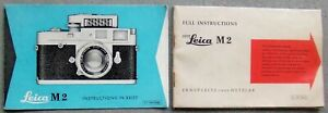 LEITZ LEICA M2 INSTRUCTION MANUAL + INSTRUCTIONS IN BRIEF