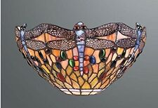 Dragonfly Stained Glass Tiffany Wall Light/UP LIGHTER