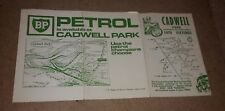 CADWELL PARK/BP MOTOR RACING evento OPUSCOLO 1970